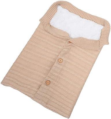 manta de velvet cochecito rosa rosa manta de punto grueso suave y c/álida Manta de forro polar para cochecito de beb/é reci/én nacido saco de dormir