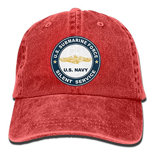 US Submarine Force Silent Service Gold Dolphins Unisex Adult Adjustable Sun Dad (Gold Dolphin Hat)