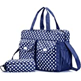 Goofybuy Waterproof Baby Nappy Changing Bags, Navy Blue - 3 Pieces