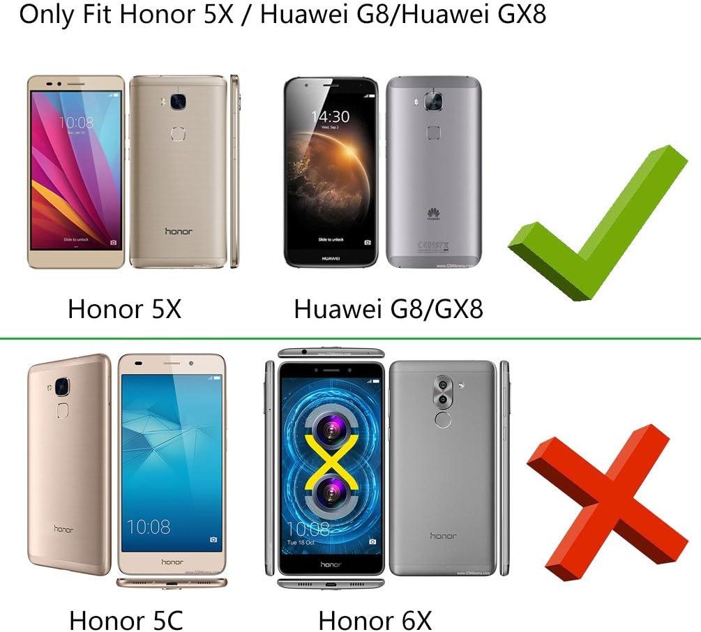 YINGE Funda Honor 5X, Huawei G8/Huawei GX8 Funda Silicona 3D ...
