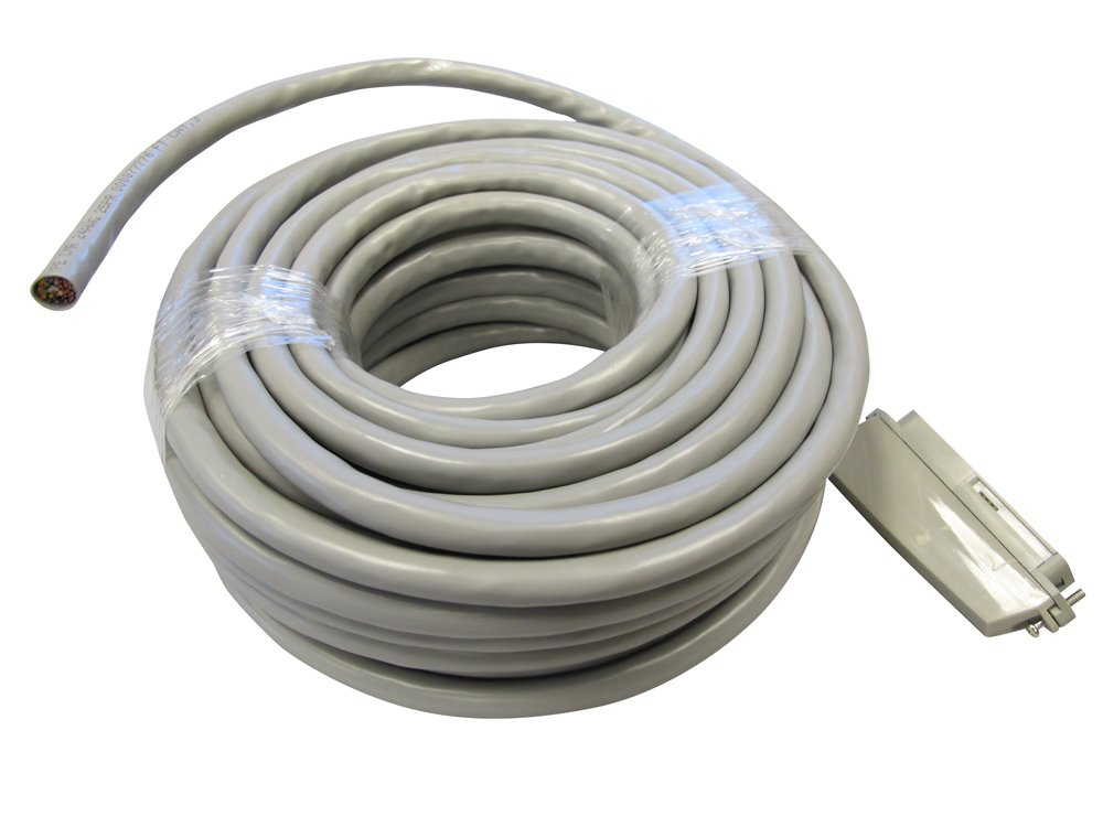 75-Foot Length Allen Tel 25-3-CX-75-GY Plug In Connector Cable Patch Cord 90 Degree Female Connector At One End Only
