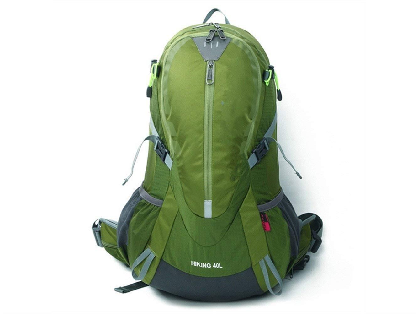 Sun Glower Wanderrucksäcke Outdoor und Indoor Sport Outdoor Nylon reißfest Wasserdicht Bergsteigen Tasche Wandern Camping Rucksack (grün) für Camping Radfahren
