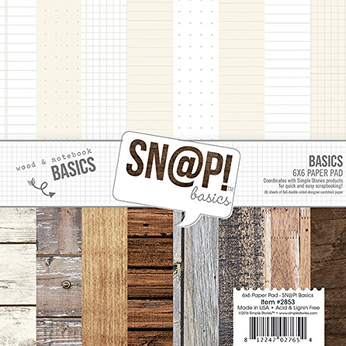 Simple Stories 2853 Snap Color Vibe Basics Paper Pad (24 Pack), 6 by 6, Multicolor 6 by 6