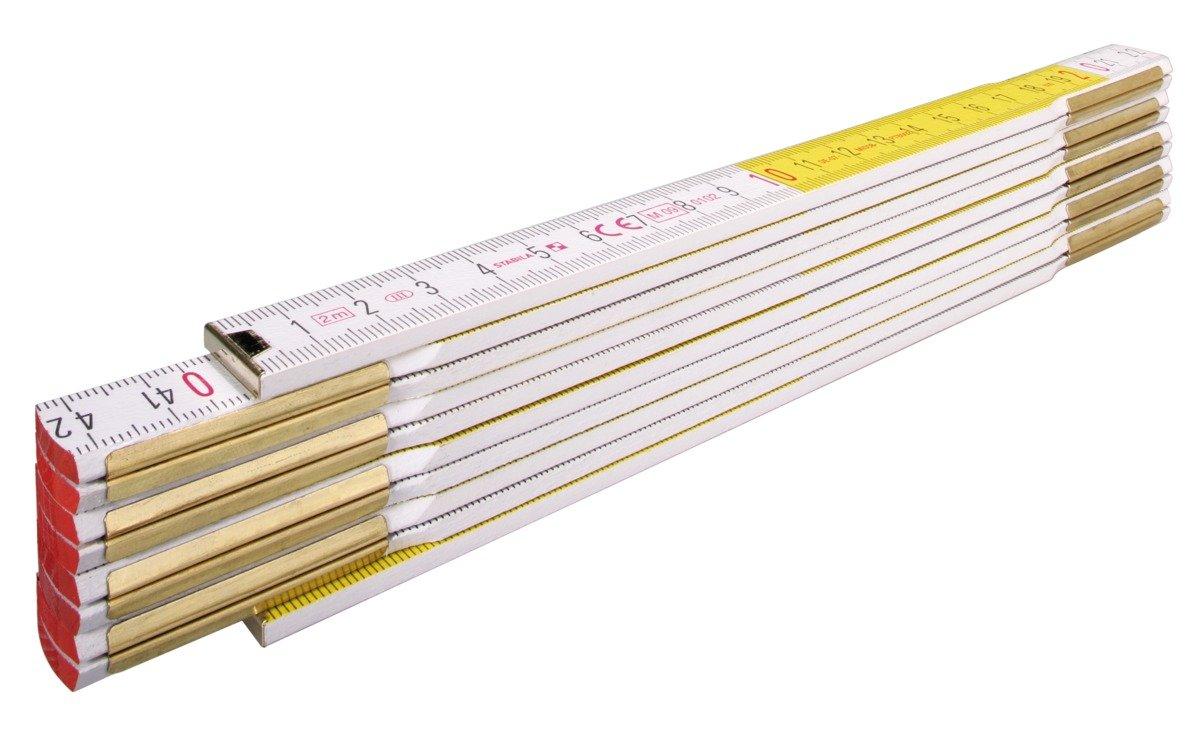 Stabila 01128/4 2 m x 16 mm'Type 617' Folding Rules Wood - Multi-Colour 853070