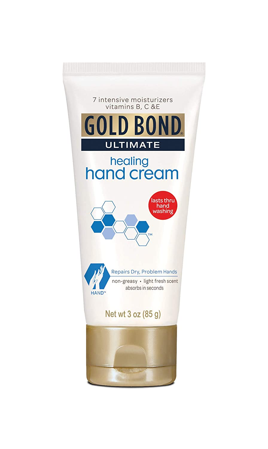 Gold Bond Ultimate Intensive Healing Hand Cream 3 oz (Pack of 7)