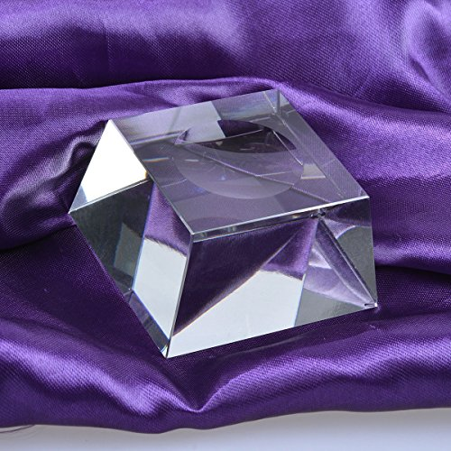 LONGWIN Trapezoid Dimple Blocks Glass Ball Display Stand For