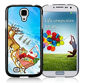 Individualization Samsung S4 TPU Protective Skin Cover Santa Claus Black Samsung Galaxy S4 i9500 Case 28