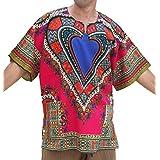 RaanPahMuang Unisex Bright Africa Heart Dashiki Cotton Plus Size Shirt