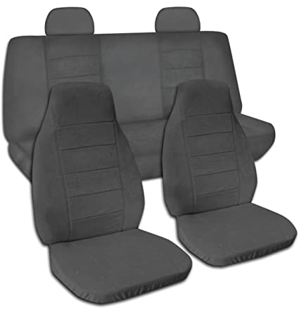 Designcovers 2002 2007 Jeep Liberty Solid Color Seat Covers  Molded/Adjustable Front U0026 Rear