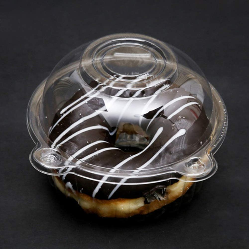 Sandwich Boxes Resealable Containers with Lids used in Kitchen /& Dining Mousse Pastry WYKOO 50 Pack Disposable Clear Plastic Dome Cupcake Boxes Muffin