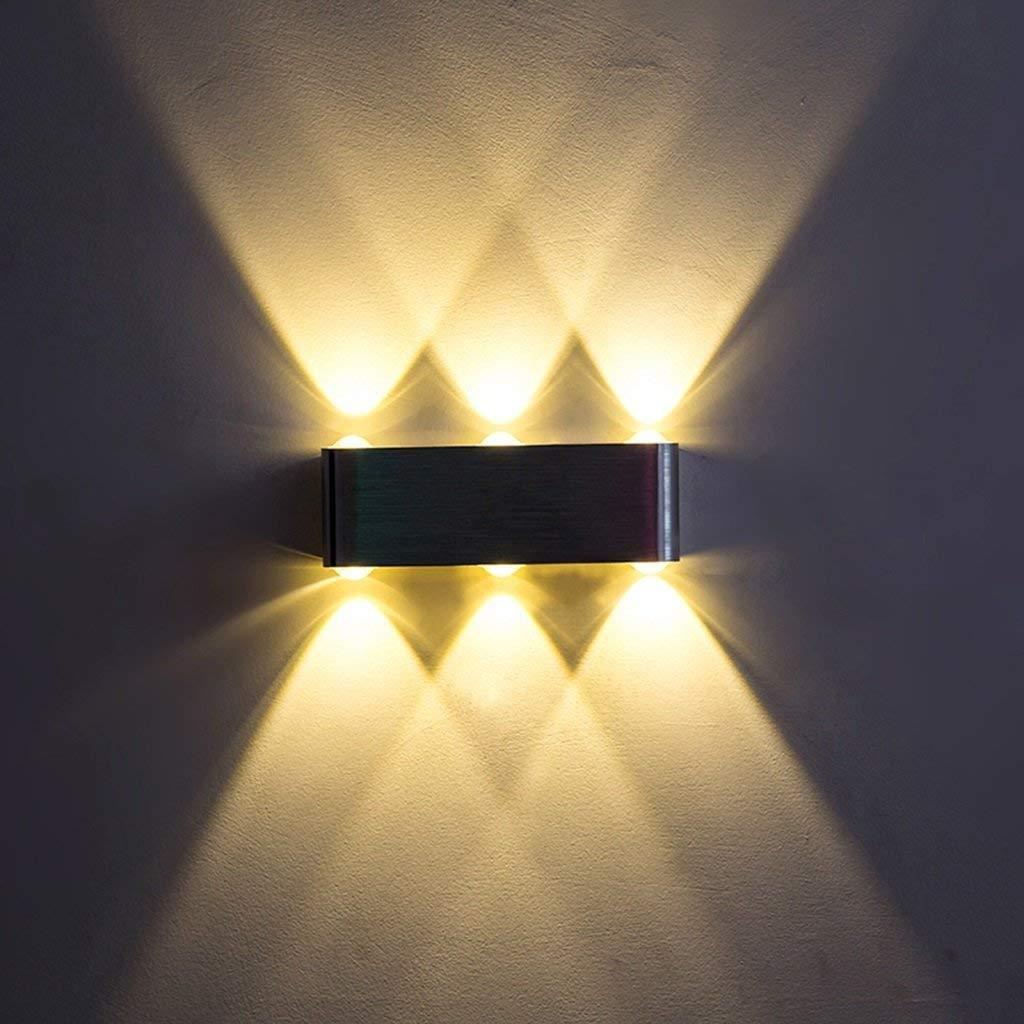 MONFS Home Beleuchtung modernes minimalistisches Wandlicht, einfaches geführtes Aluminiumschlafzimmer-Kopfteil-Wohnzimmer-Flur-warme Lichttechnik-Lampe, Hauptwand-Beleuchtung (Farbe   A)
