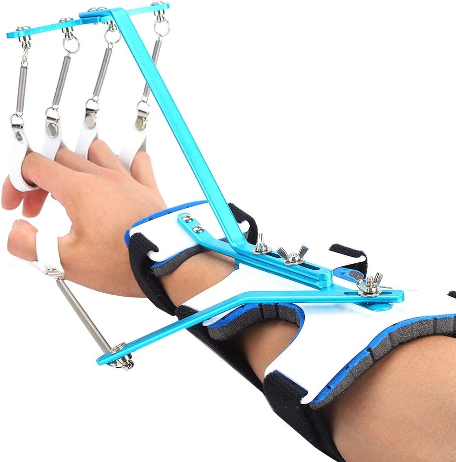 Ejercitador de dedos para las manos, entrenamiento con órtesis de muñeca multifunción, dispositivo de refuerzo de las empuñaduras de mano invertida para el antebrazo mejora la flexibilidad.