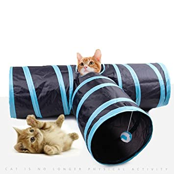 Túnel para gato, túnel para mascotas, juguetes para gatos, túnel de juguete plegable