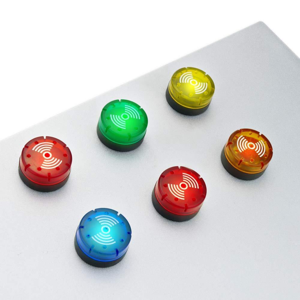 BeMatik Luz piloto LED intermitente con zumbador de 22 mm para paneles de control 220 VAC rojo