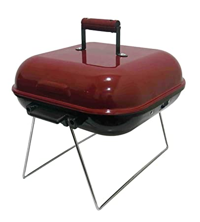 Fabrilla Square Charcoal Barbeque Grill Set with Lid (Black)