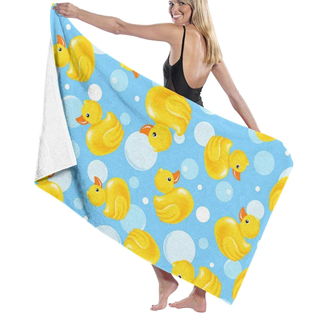 Ultra Soft 100% Polyester Cotton Bath Towels Yellow Rubber Duck Quick Dry Wash Cloths Hand Towel Body Towel Bath Sheets, Machine Washable Highly Absorbent Bath Sheets