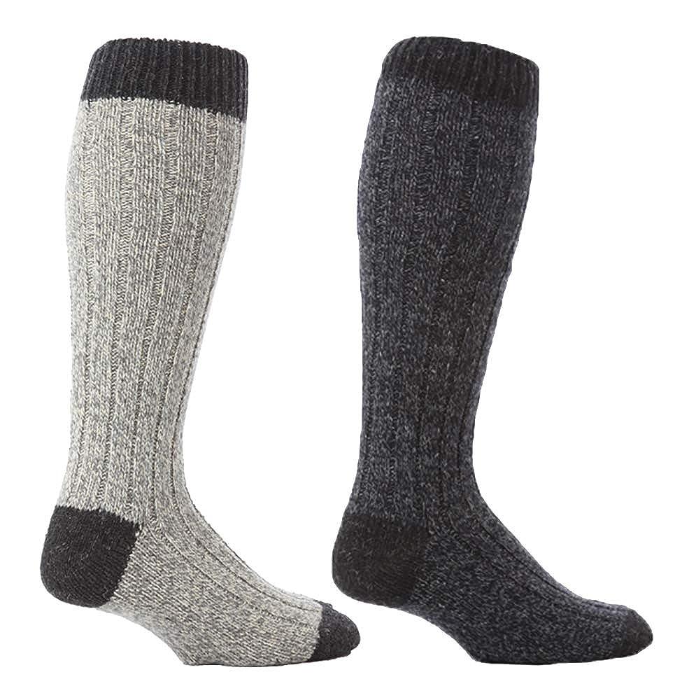 f485f9be7e1 Workforce - 3 paires homme extra longues hautes laine chaussettes pour  marcher (39-45 eur