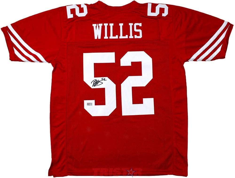 Patrick Willis Autographed San Francisco 49ers Red Custom Jersey ...