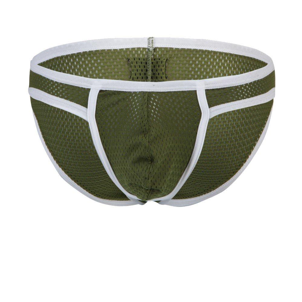 Portazai Womens Underwear Cotton Bikini Men's Sexy Mesh Underwear Shorts Underpants Soft Breathable Panties Sky Blue