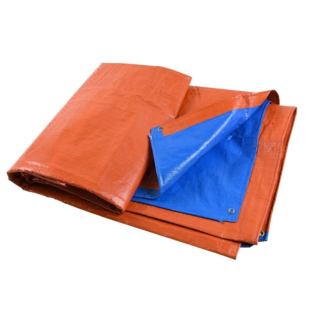 AJZGF Regenschutz Wasserdicht Plane Gartenarbeit Schutz Pflanze Sonnencreme Lieferungen LKW Schuppen Tuch Sonnenschutz Sonnencreme Falten Antioxidation (Farbe   Blau+Orange, größe   5x7M)