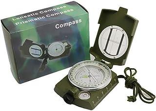 NUO-Z Compas Clinometer avec échelle Fluorescente Sighting Compass Inclinometer avec Sac pour randonnée Camping Escalade Explorer la géologie en Plein air