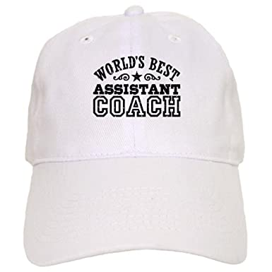 1ed563d225f Amazon.com  CafePress - World s Best Assistant Coach - Baseball Cap with  Adjustable Closure
