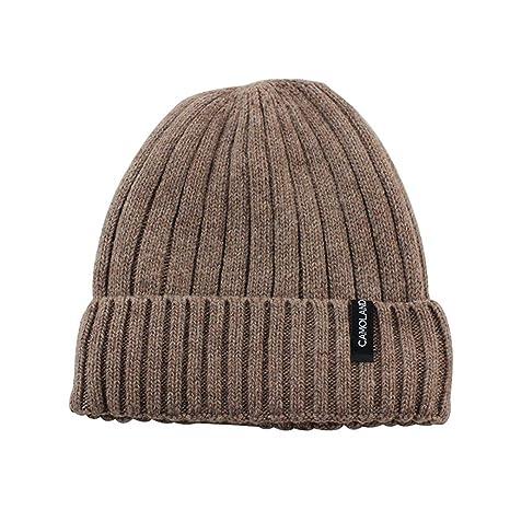 f53aa907c8bf6 KCJDKW&UEN Wool Beanies Knit Men's Winter Hat Caps Bonnet Winter Hats for Men  Women Beanie Warm