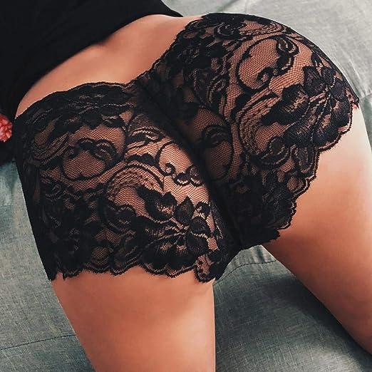Ropa Interior Mujer, ❤ Modaworld Chica Mujer Sexy Cintura Alta Tanga Bragas Pantie Correa Lencería Ropa Interior de Encaje Knicker Pantalones Cortos ...
