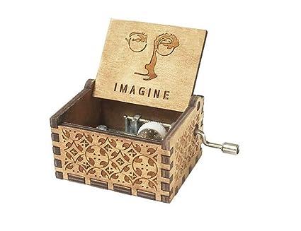 Cuzit Caja de Música, Diseño de Imagen Tallada Antigua, Regalo de Navidad, Regalo