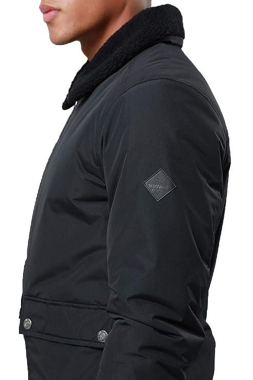 24d78c2f0bdf5 Threadbare - Blouson - Blouson - Col Chemise Classique - Homme - - Small   Amazon.fr  Vêtements et accessoires