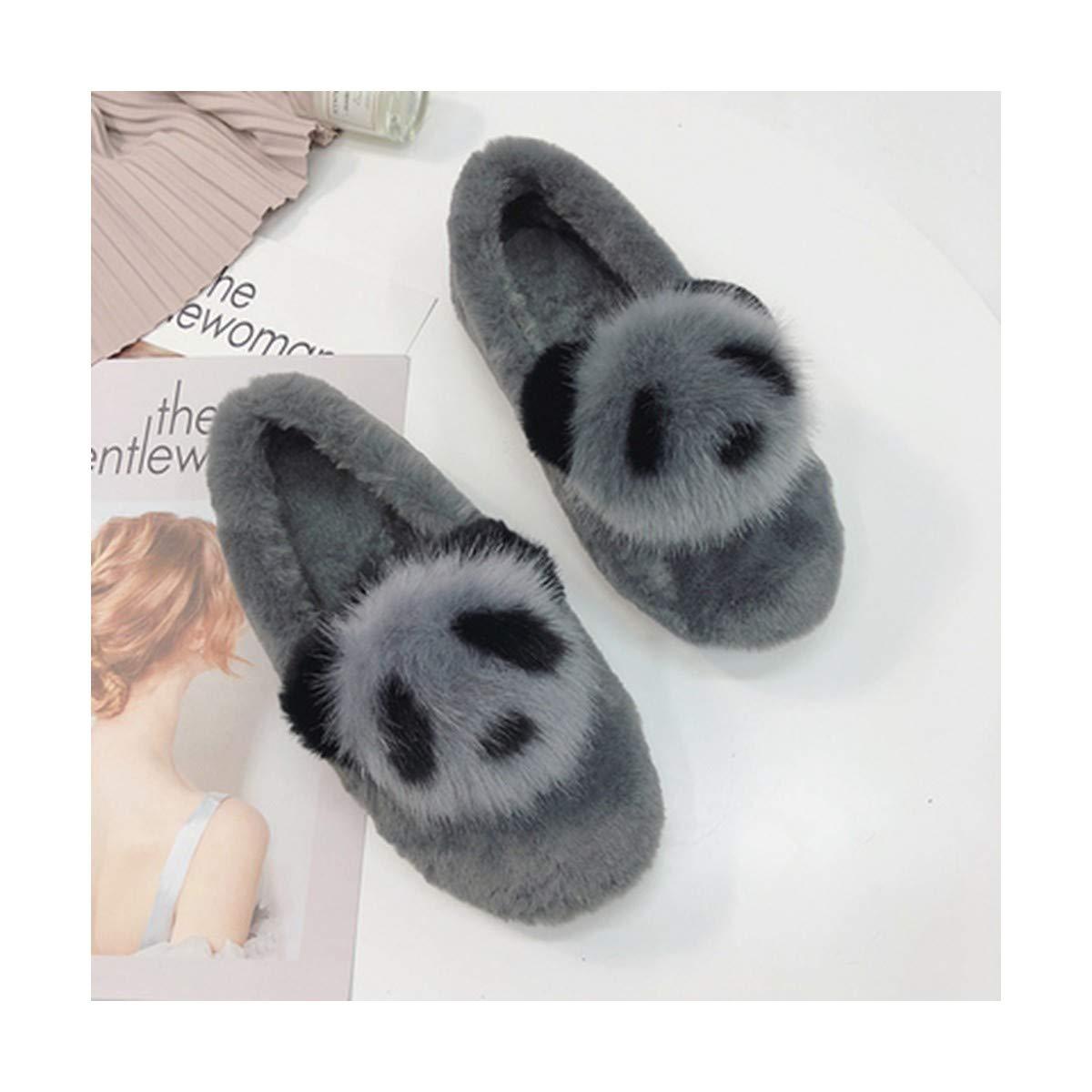 SIKESONG Nouvelles d'hiver Chaussures pour Femmes Fashion Plus Chauds Et Confortables en Velours Chaussures Pois Plat