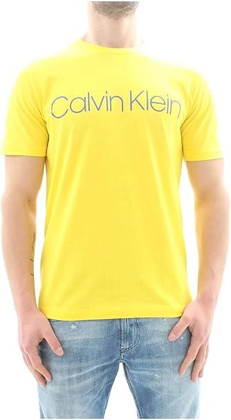 Calvin Klein K10K103078 Cotton Front Logo Camisetas Y Camisa DE Tirantes Hombre Yellow L: Amazon.es: Ropa y accesorios