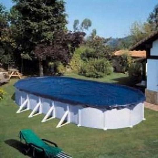 bâche d'hivernage pour piscine hors-sol ovale : diam 610 x 375 cm ... - Bache D Hivernage Pour Piscine Hors Sol