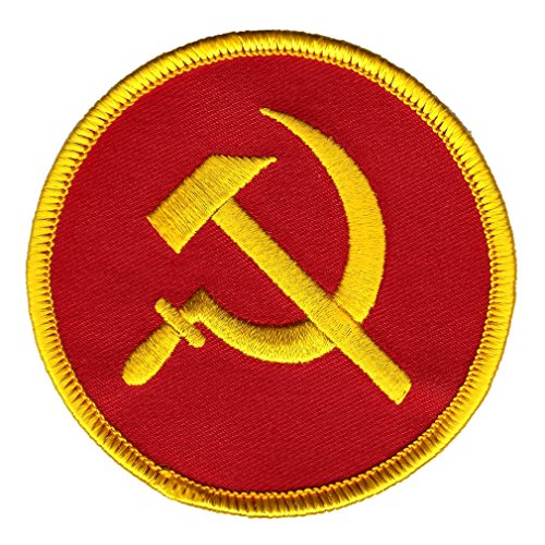 Communist Hammer and Sickle Iron-On Patch Embroidered Party Russia CCCP USSR