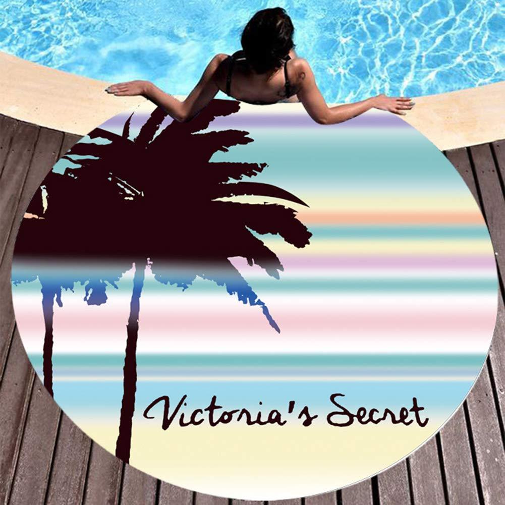 RIsxffp Estera de Playa Cojines Mujeres de Verano Estampado de Flores Redondo Toalla de Playa mantón Bufanda Bikini Cover Up 2#: Amazon.es: Hogar
