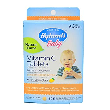Hylands Vitamin C Tablets Natural Lemon - 25 mg - 125 Tablets by Hylands Homeopathic