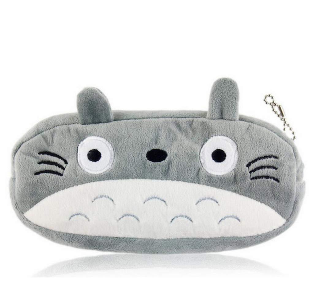 ToomLight Cute Plush Pencil Bag Totoro Lápiz Holder Pouch Cartoon Animal Coin Purse Bolso Bolso Diseño Llavero de Peluche de Juguete