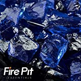 Fire Pit Essentials Fire Glass for Fireplace and Firepit Fireglass 10 Pound 1/2 Inch Cobalt Blue For Sale