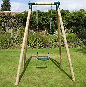 High Quality Rebo Wooden Garden Swing Sets   Solar By Rebo