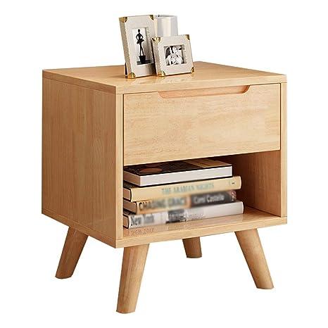 Amazon.com: Mesita de noche con 2 estantes, armario de ...