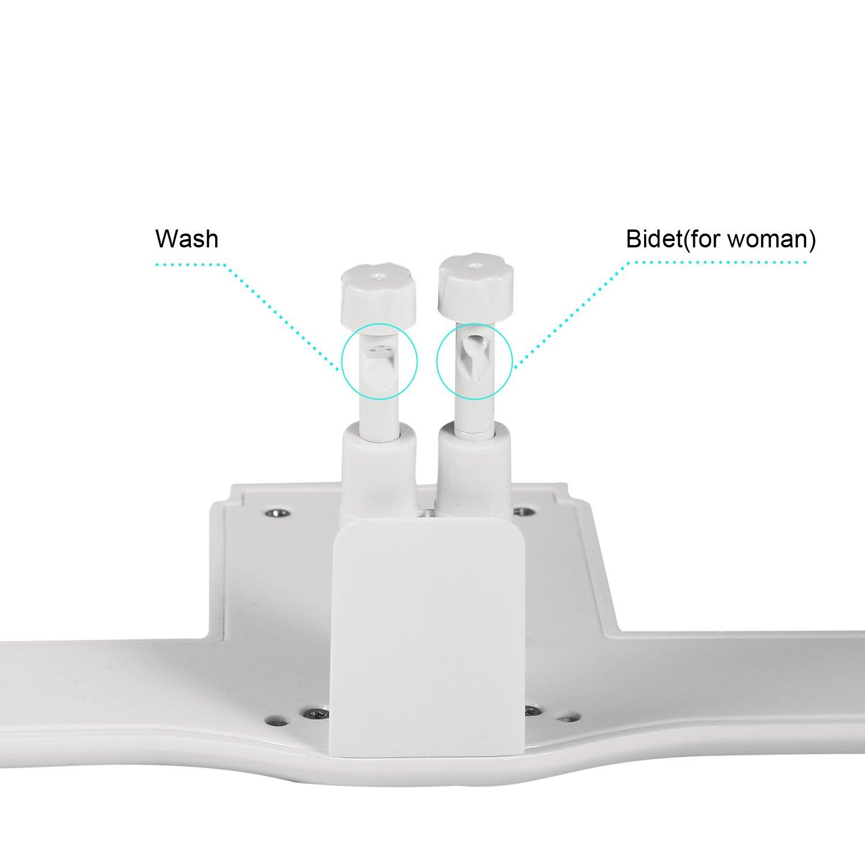 Váter bidé Bathwa modelo Taharet con ducha íntima con agua caliente, de color blanco: Amazon.es: Bricolaje y herramientas