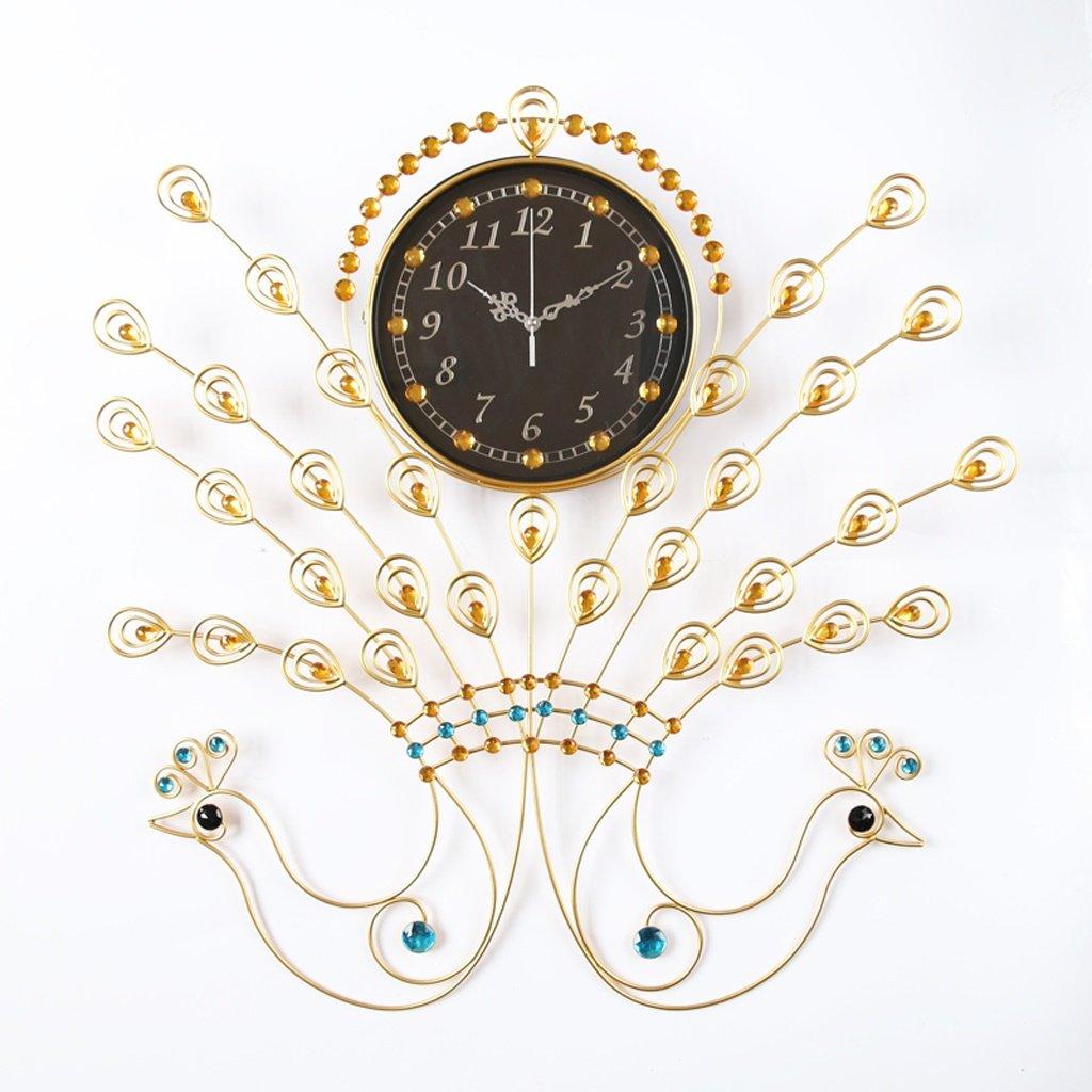 ALUPヨーロッパスタイルのアートの装飾ミュートの壁時計クリエイティブリビングルームの寝室 B07F3TK64R
