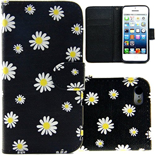 Alala Wallet Case for iPhone SE,Flowers Printed