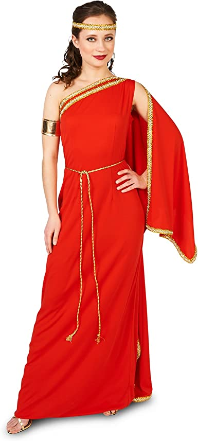 Amazon.com: Royal Ruby Toga - Disfraz para adulto, S: Clothing