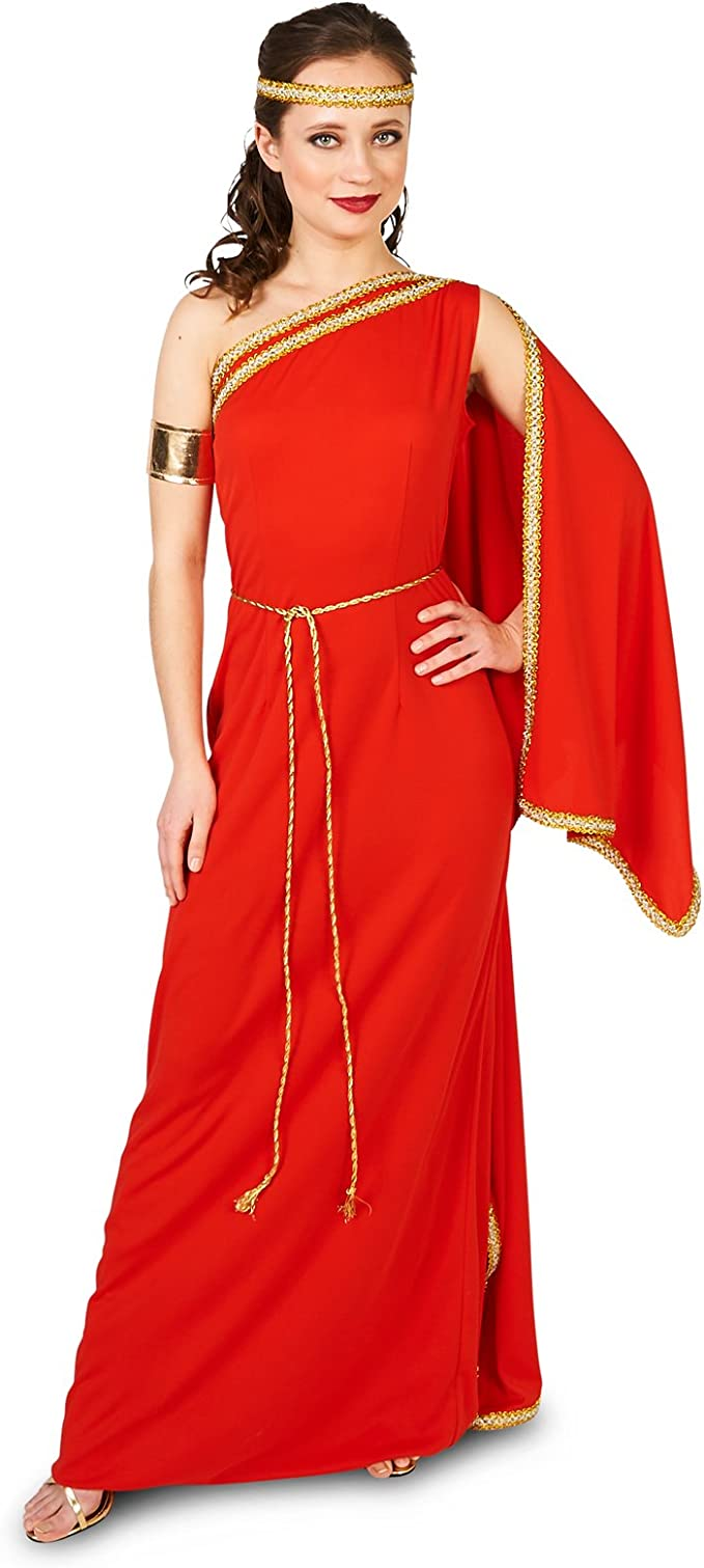 Amazon.com: Royal Ruby Toga - Disfraz para adulto, S: Clothing