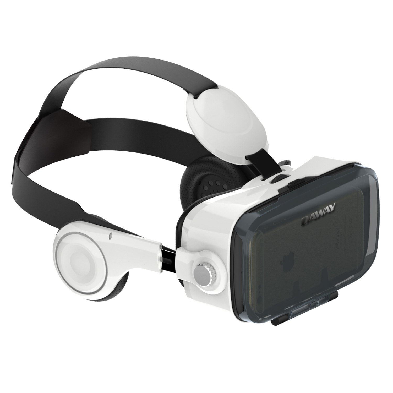 VR Goggles with Stereo Headset - DAWAY 360VR Virtual Reality Goggles for 3D Movies & Games Compatible with 4.0-6.2 Inches Apple iPhone, Samsung More Smartphones, 120° FOV by DAWAY