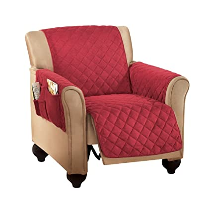 Miraculous Micro Fleece Quilted Furniture Protector Cover With Pockets Burgundy Recliner Unemploymentrelief Wooden Chair Designs For Living Room Unemploymentrelieforg