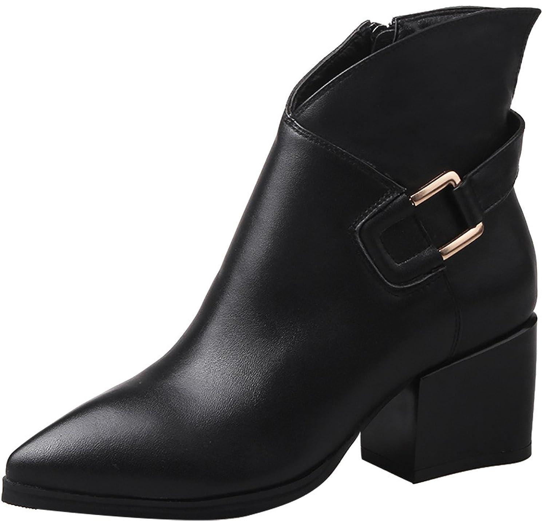 ELEHOT Womens Eleexchange 6CM mid-heel Boots