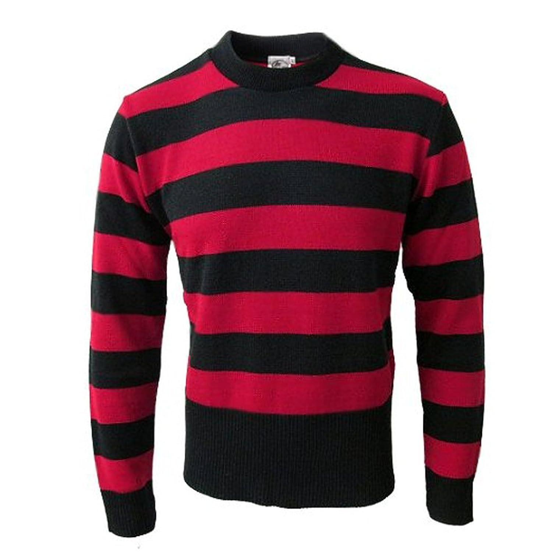 Préférence 45RPM Menace - Maglione a righe - rosso e nero - L: Amazon.it  TP94