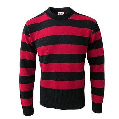 Favorito 45RPM Menace - Maglione a righe - rosso e nero - L: Amazon.it  TI07